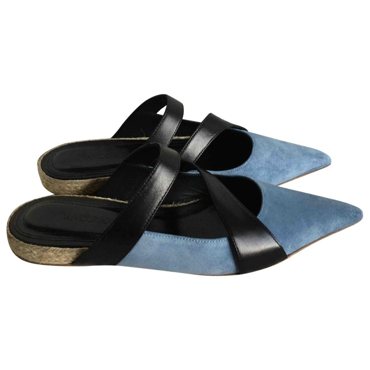 J.w. Anderson \N Blue Suede Sandals for Women 39 EU