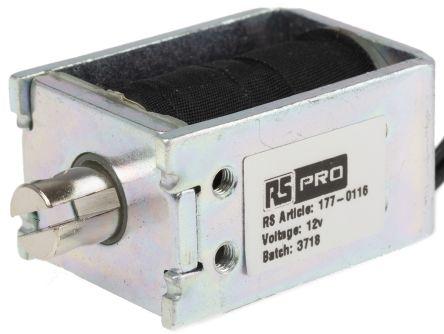 RS PRO Pull Action DC D-Frame Solenoid, 12 V