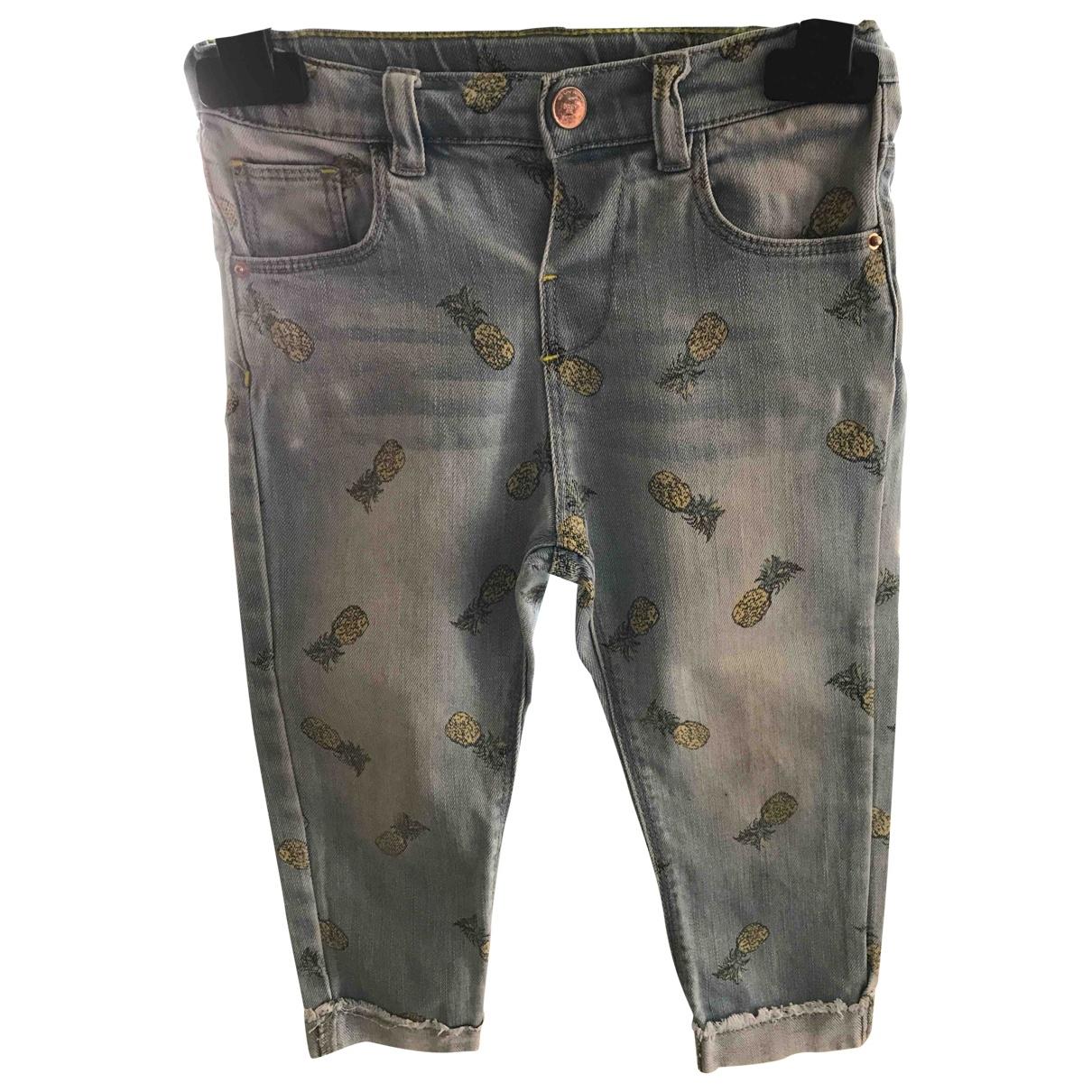 Zara - Pantalon   pour enfant en denim - bleu