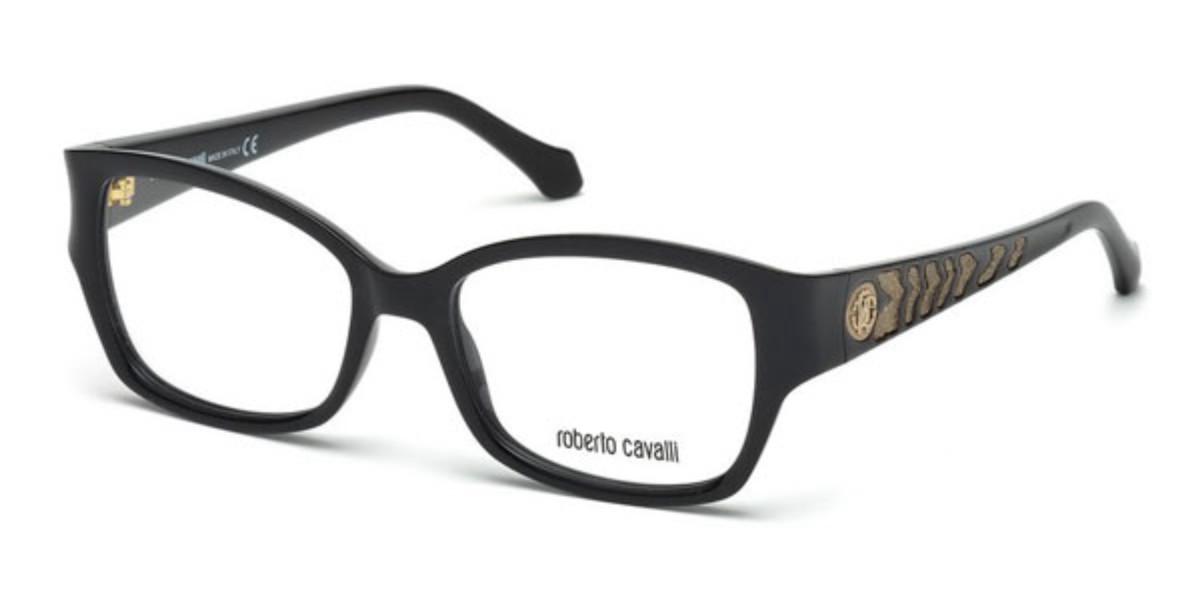 Roberto Cavalli RC 772 MOYENNE 001 Women's Glasses Black Size 53 - Free Lenses - HSA/FSA Insurance - Blue Light Block Available