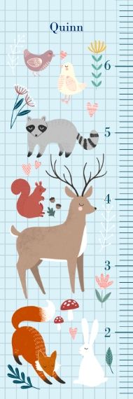 Growth Charts Adhesive Growth Chart 6x2, Home Décor -Forest Friends