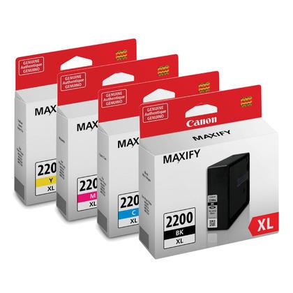 Canon PGI-2200XL Original Ink Cartridge Combo High Yield BK/C/M/Y