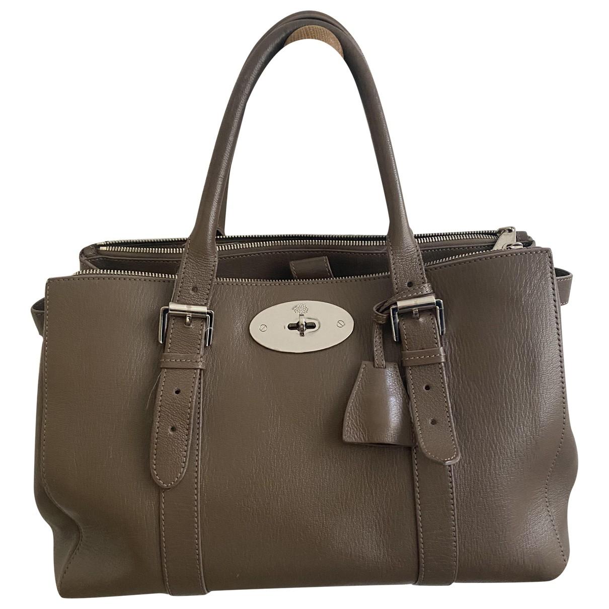Mulberry \N Grey Leather handbag for Women \N