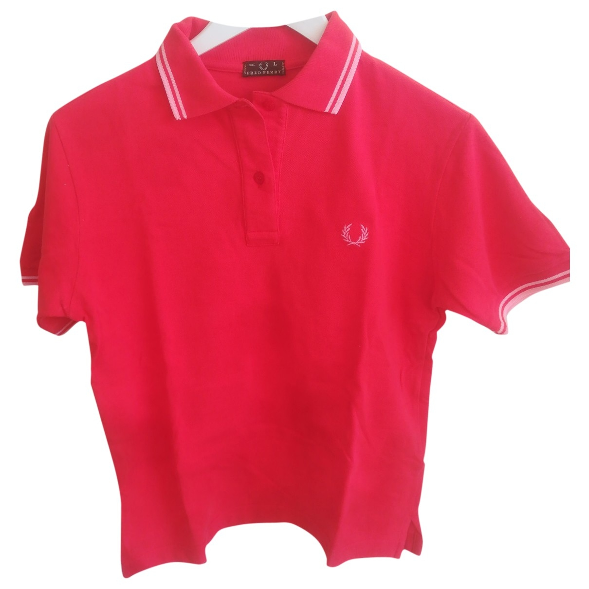 Fred Perry \N Red Cotton  top for Women L International
