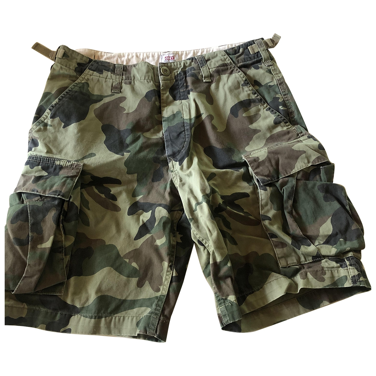 Obey \N Green Cotton Shorts for Men 30 UK - US