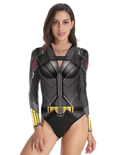 Milanoo Marvel 2020 pelicula Black Widow Natasha Romanoff disfraz de Cosplay Body