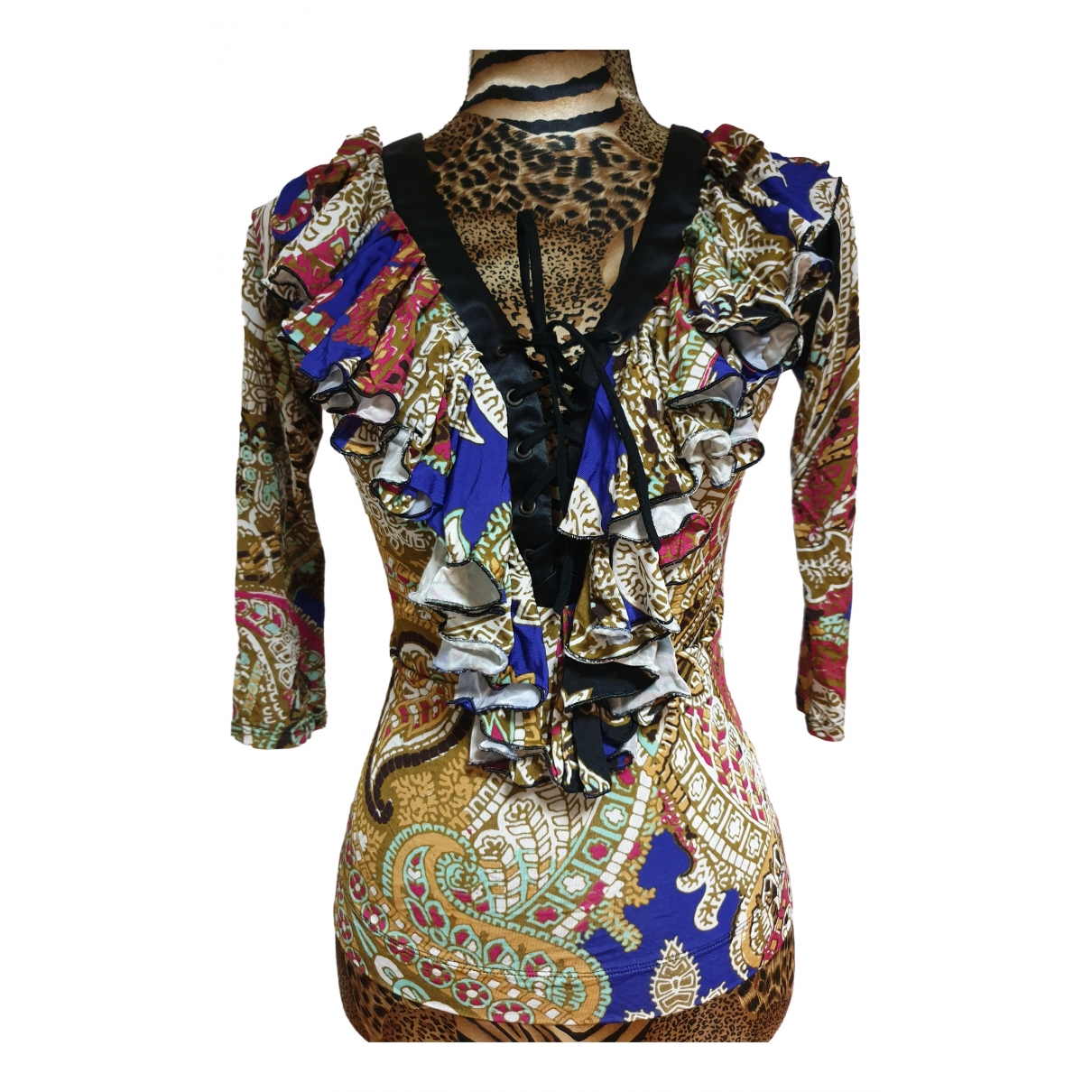 Just Cavalli \N Top in  Bunt Viskose
