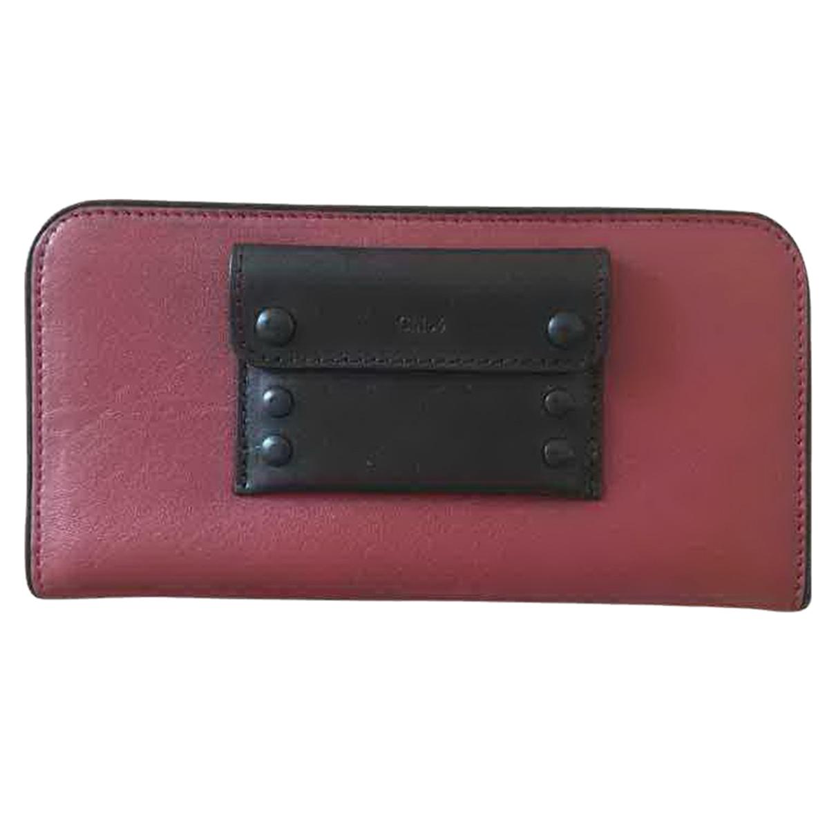Chloé \N Burgundy Leather wallet for Women \N