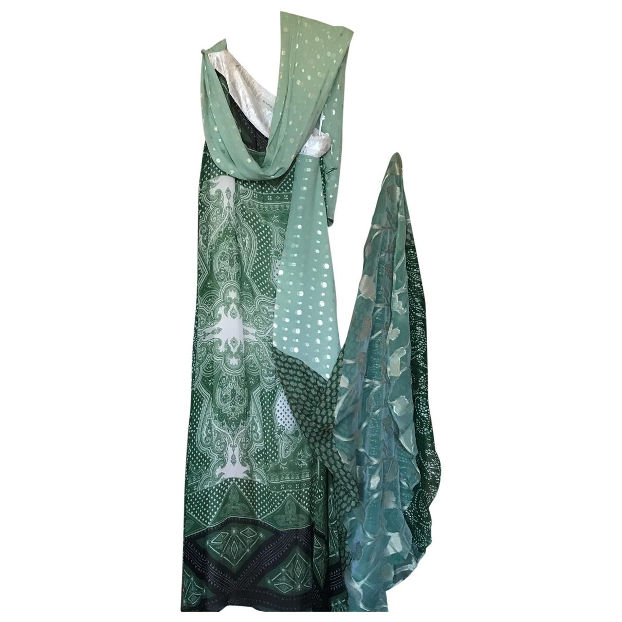 Etro \N Kleid in  Gruen Seide
