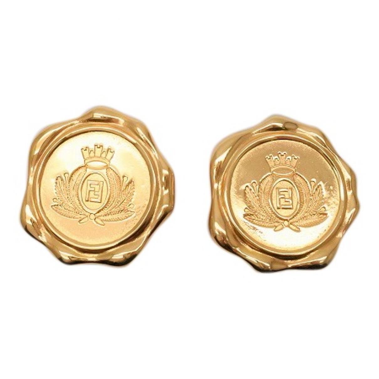 Fendi - Boucles doreilles   pour femme en plaque or - dore