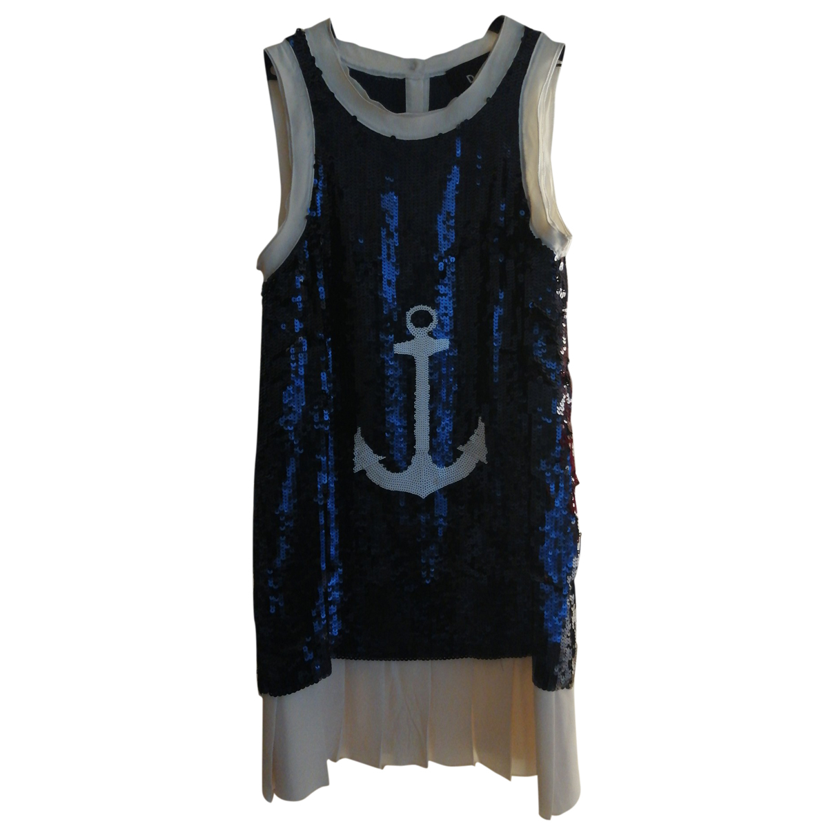 Dolce & Gabbana \N Kleid in  Blau Mit Pailletten