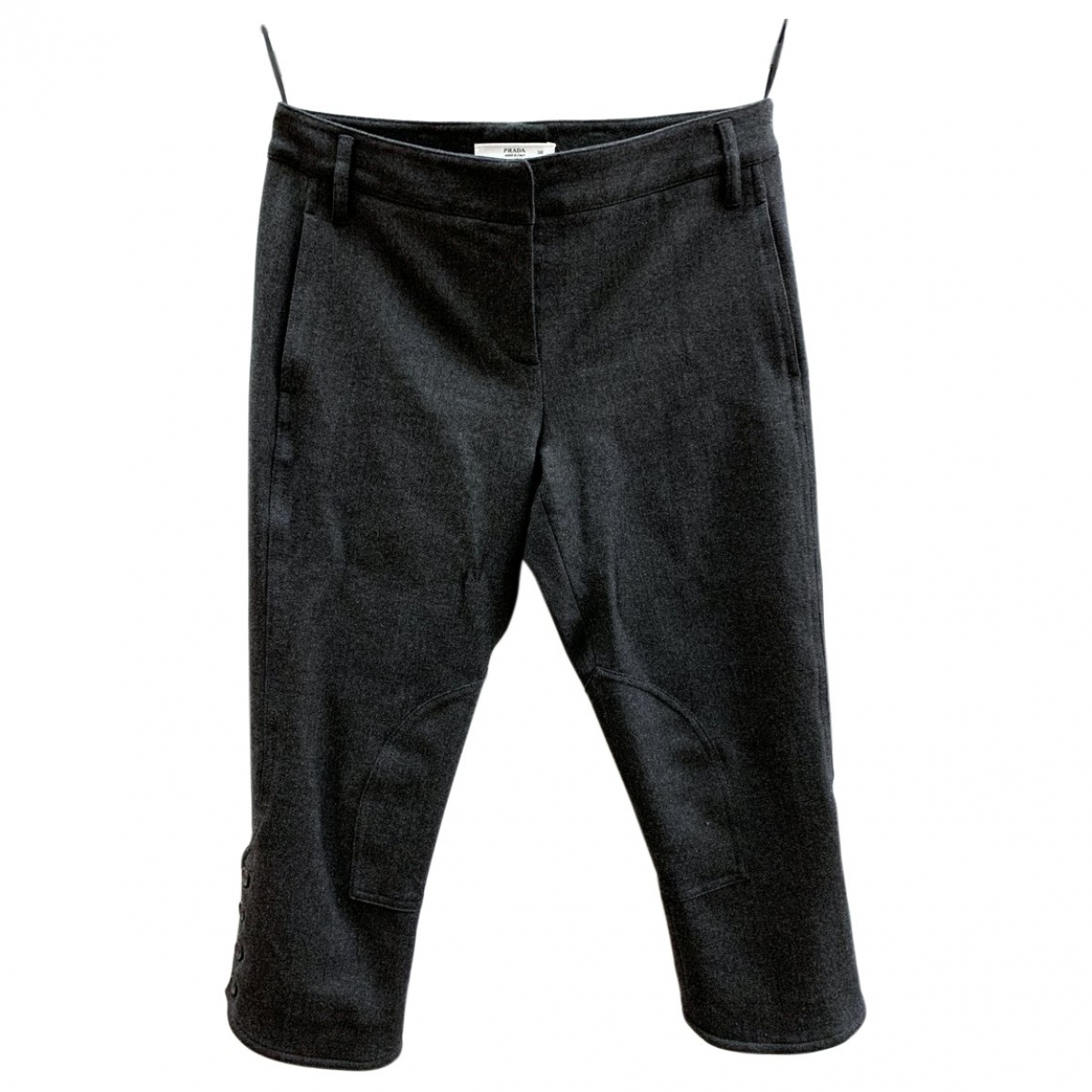 Prada \N Grey Wool Trousers for Women 38 IT