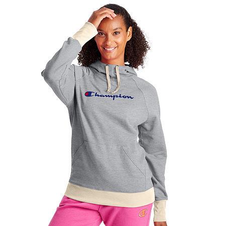 Champion Womens Hooded Neck Long Sleeve Hoodie, Medium , Gray