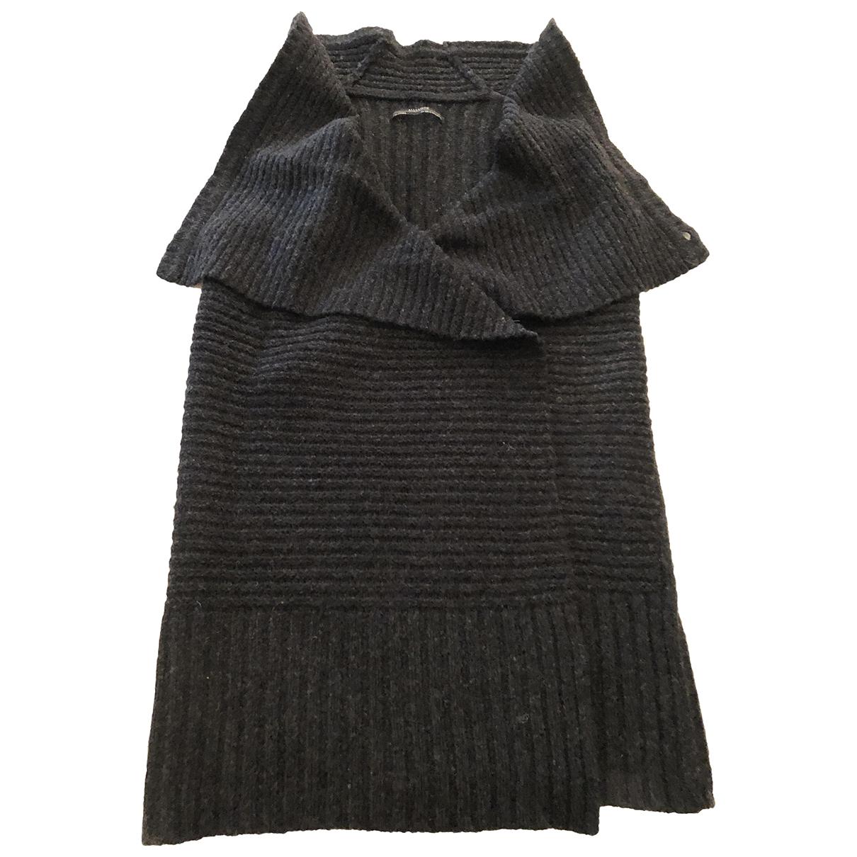 All Saints - Veste   pour femme en laine - anthracite