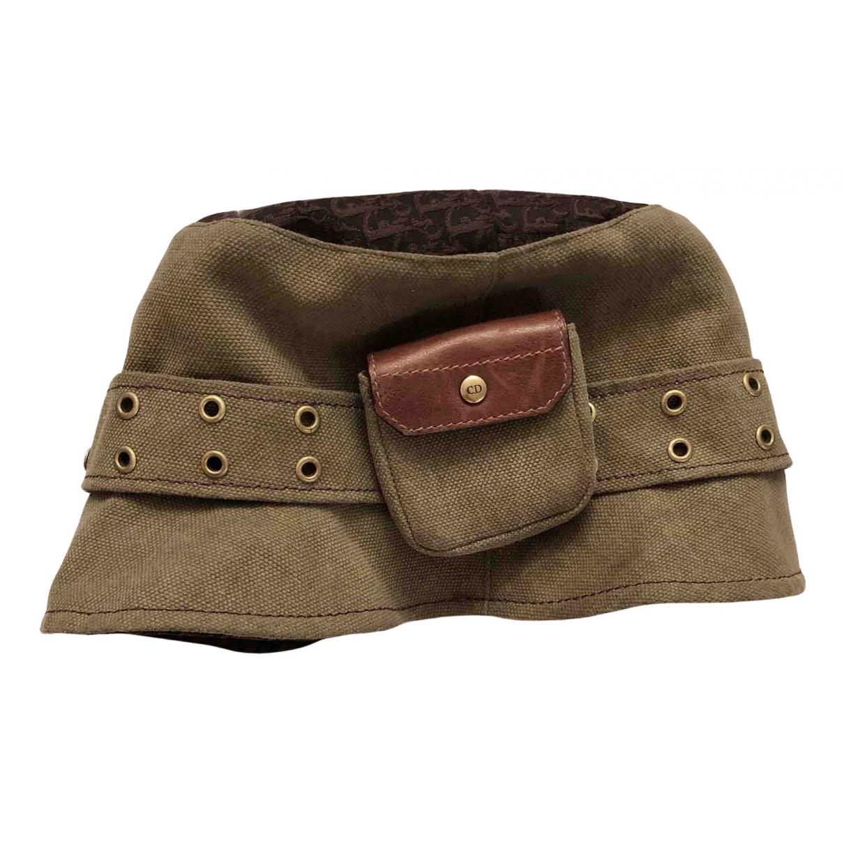 Dior - Chapeau Teddy D pour femme en toile - kaki