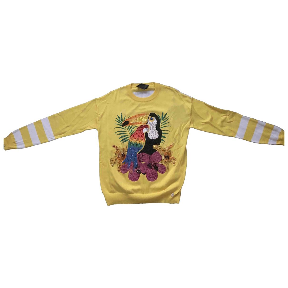 Philipp Plein - Pull   pour femme en laine - jaune