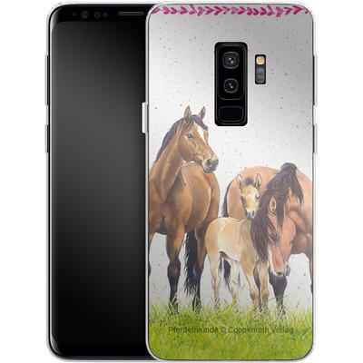 Samsung Galaxy S9 Plus Silikon Handyhuelle - Pferdefreunde Familie von Pferdefreunde