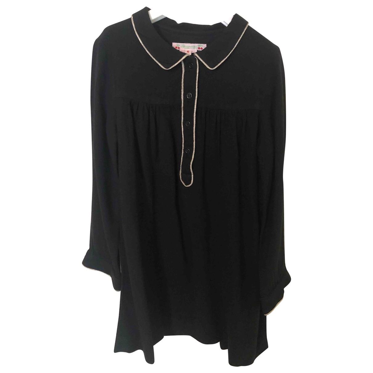 Bonpoint - Robe    pour enfant en laine - noir