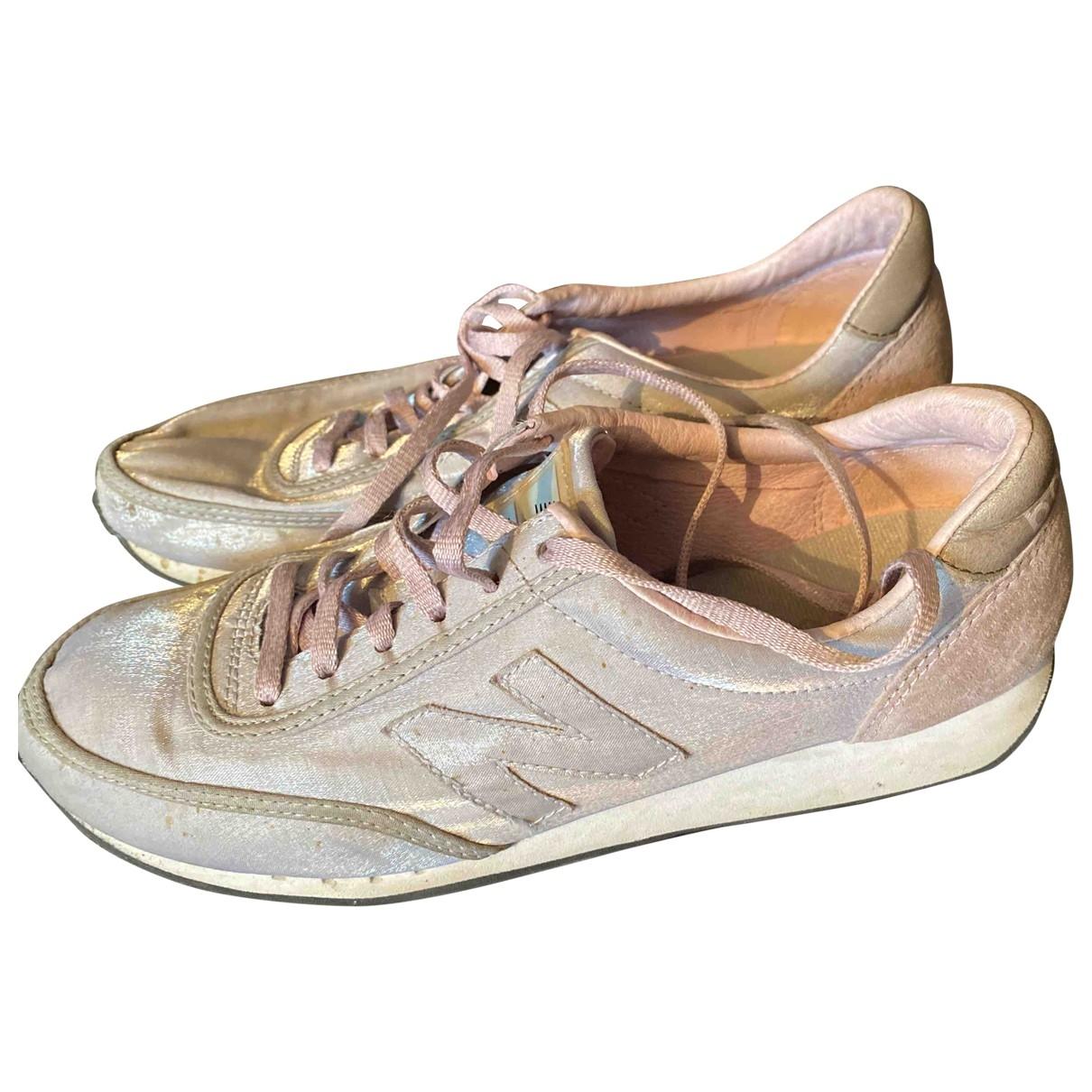 New Balance \N Sneakers in  Metallic Leinen