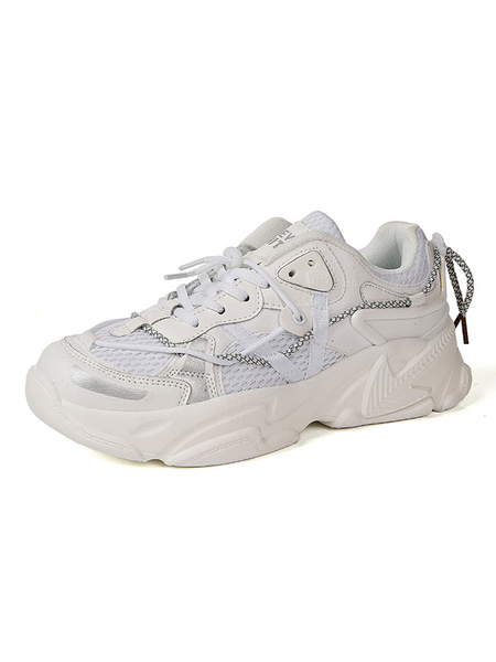Milanoo Mens Sneakers Cozy Mesh Round Toe Color Block Low Tops Men\'s Shoes