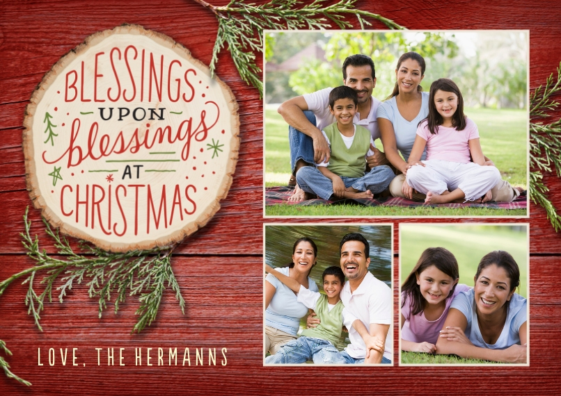 Christmas Photo Cards 5x7 Cards, Premium Cardstock 120lb with Elegant Corners, Card & Stationery -Rustic Christmas Blessings by Hallmark
