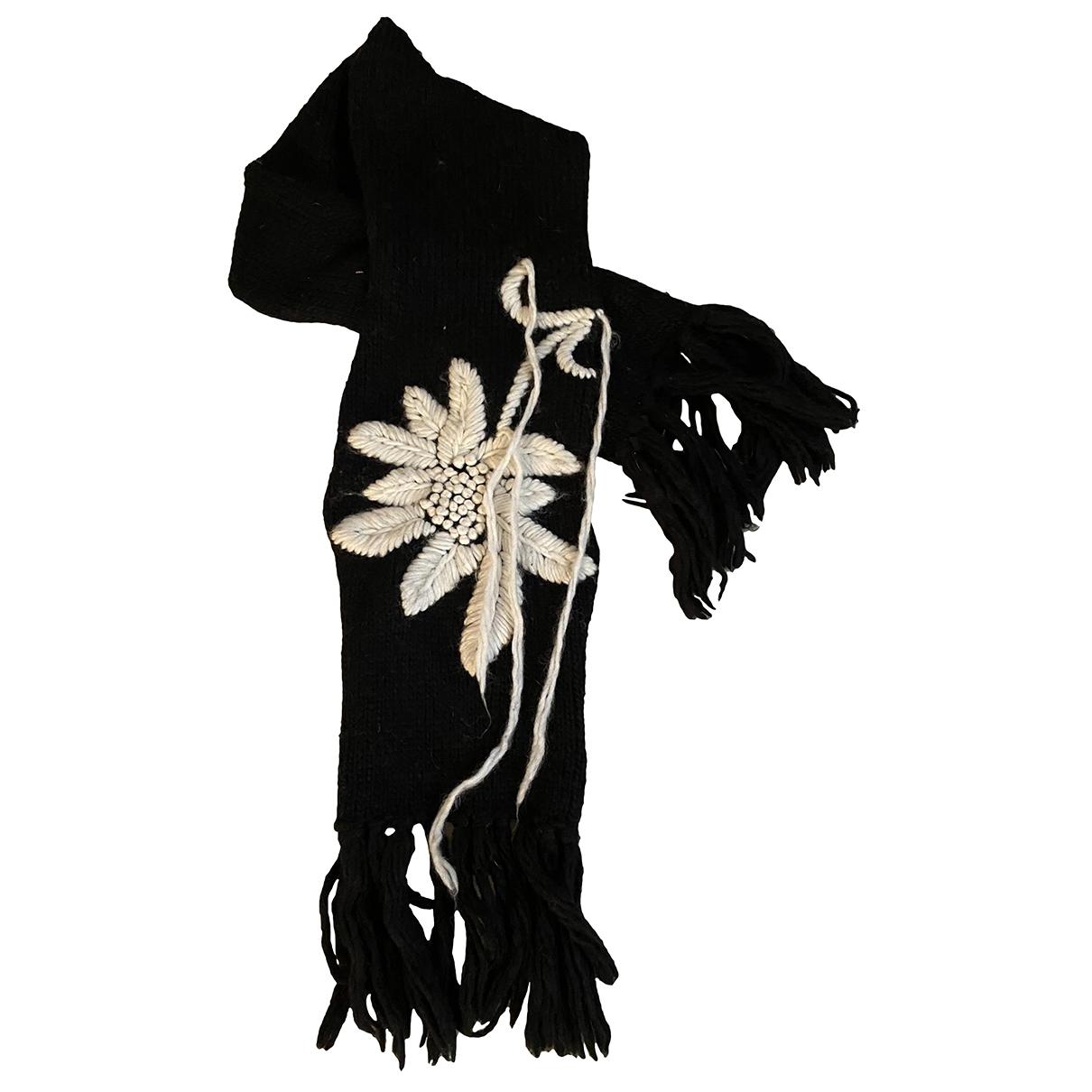 Parosh \N Schal in  Schwarz Wolle