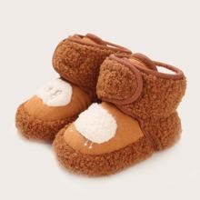 Botas tobilleras calientes de bebe niño con patron de oveja