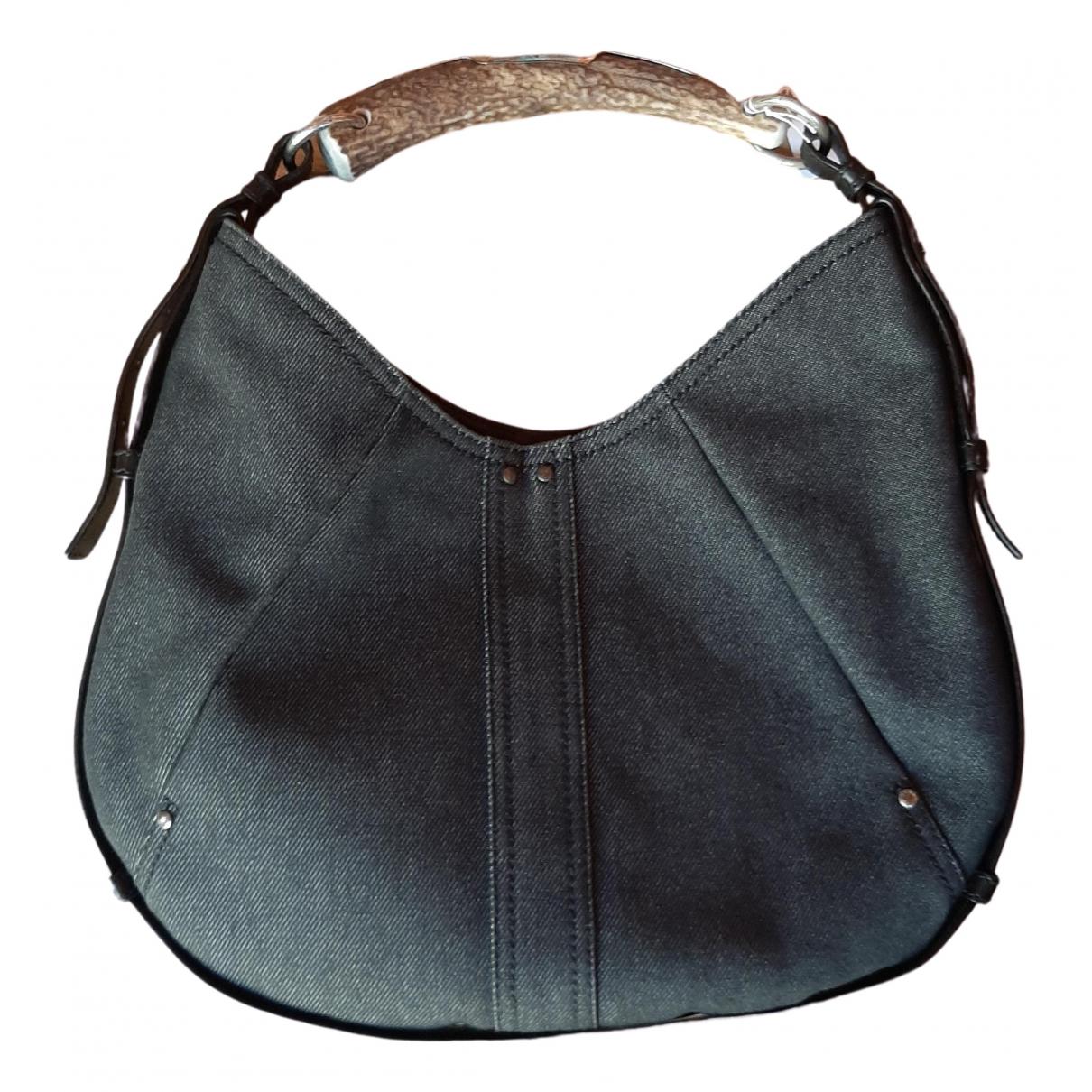 Yves Saint Laurent Mombasa Black Denim - Jeans handbag for Women \N
