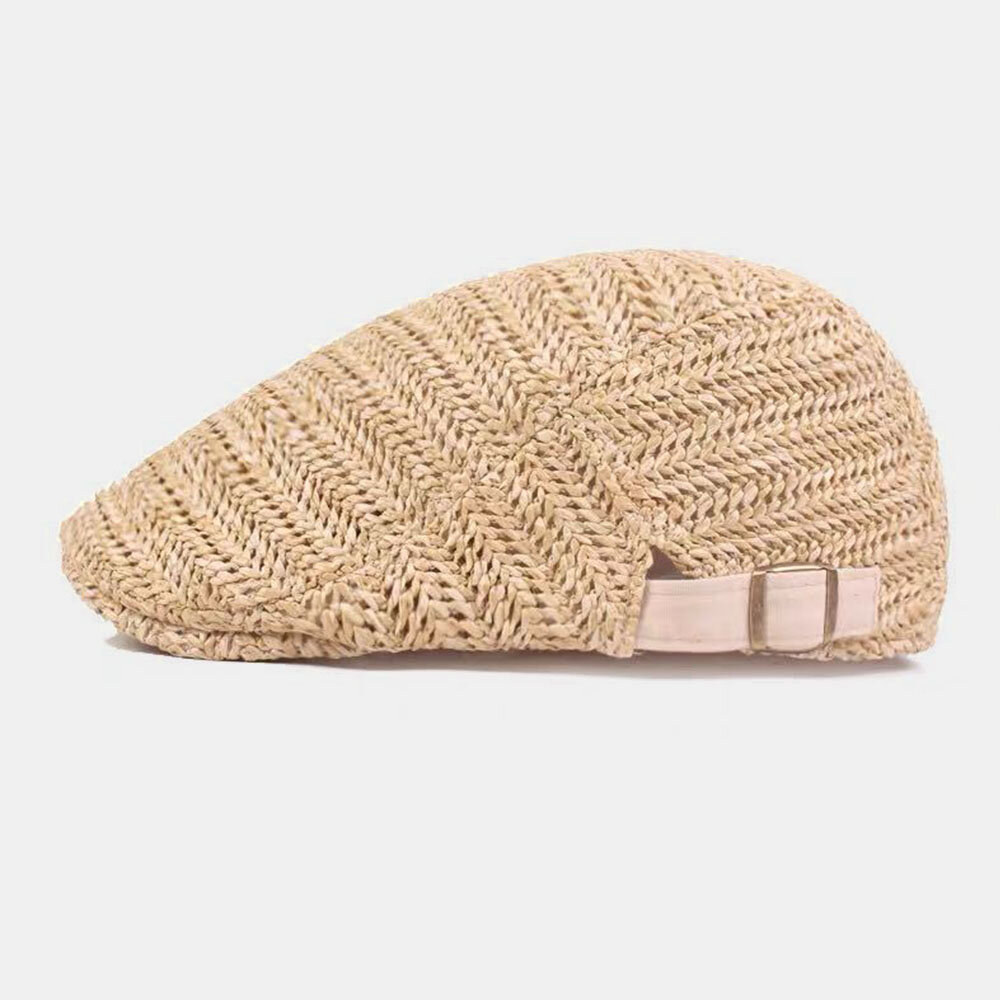 British Style Woven Fashion Go Out Peaked Hat Artist Beret Hat Forward Hat For Male Female Flat Caps