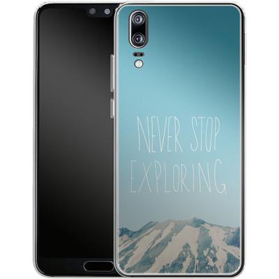 Huawei P20 Silikon Handyhuelle - Never Stop Exploring von Leah Flores