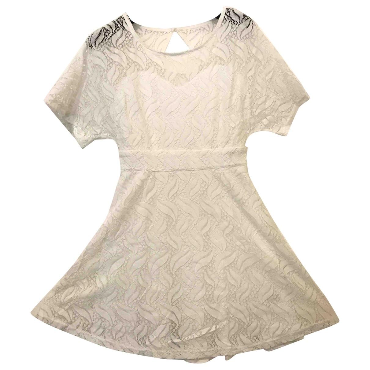 Mini vestido Manche ballon de Encaje Non Signe / Unsigned