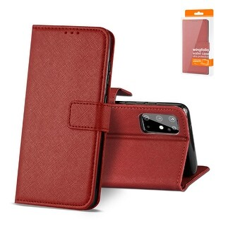 Reiko 3-In-1 Wallet Case for SAMSUNG GALAXY S20 (Red)