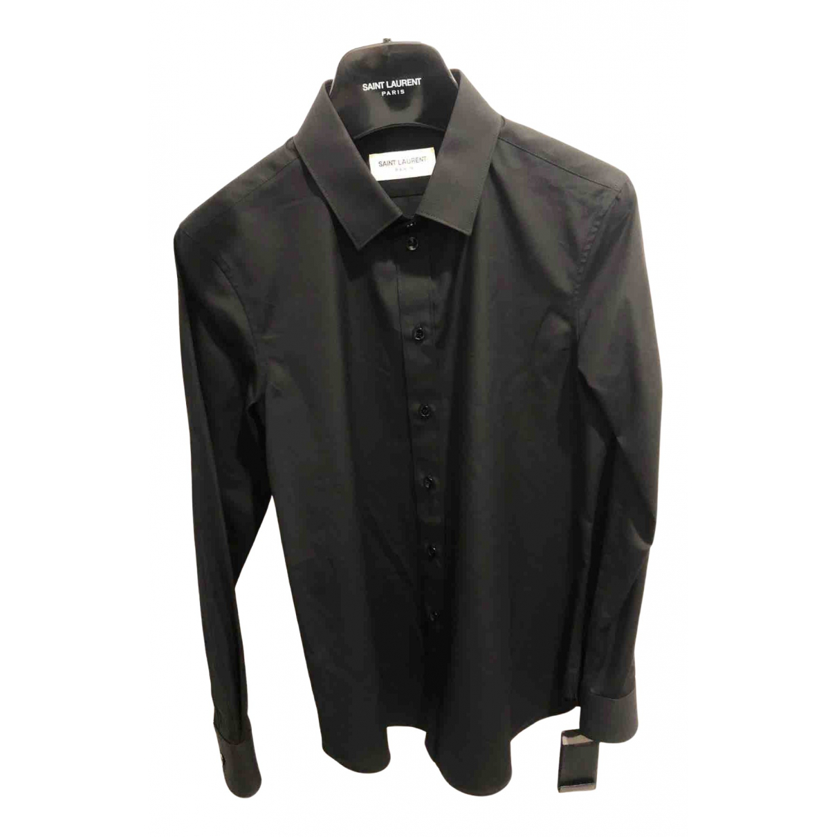 Saint Laurent \N Top in  Schwarz Baumwolle
