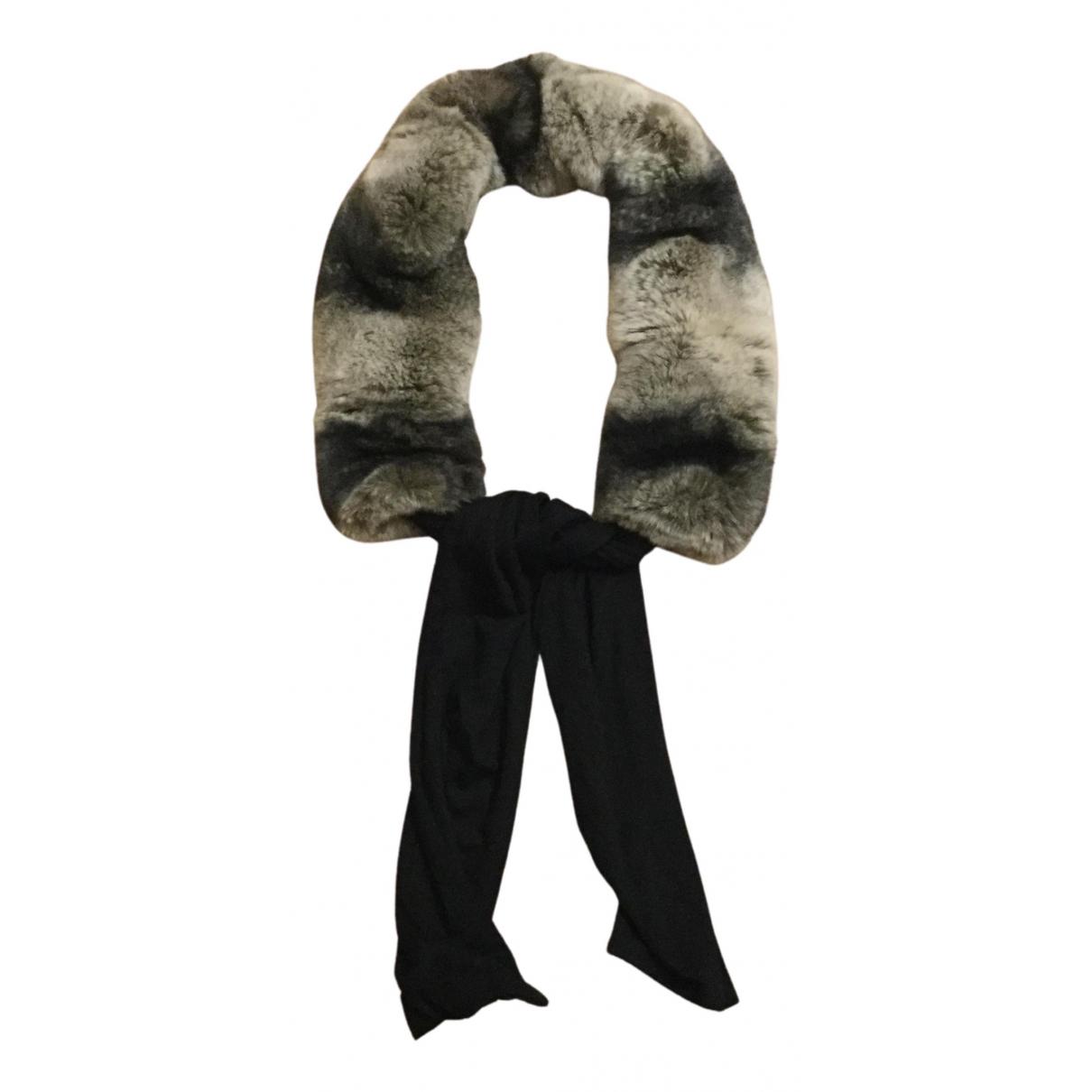 - Foulard   pour femme en lapin - gris