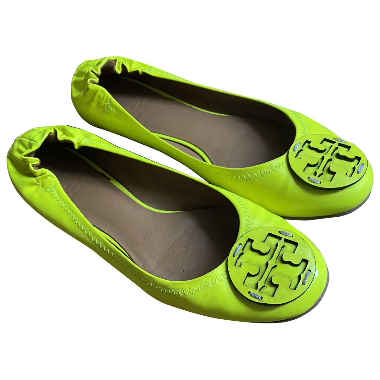 Tory Burch \N Yellow Leather Ballet flats for Women 8 US