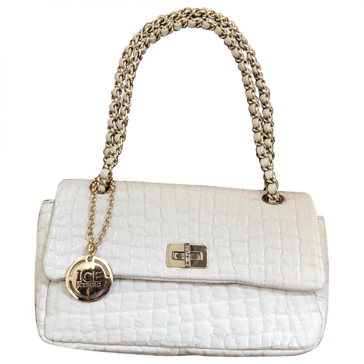 Iceberg \N Ecru Leather handbag for Women \N