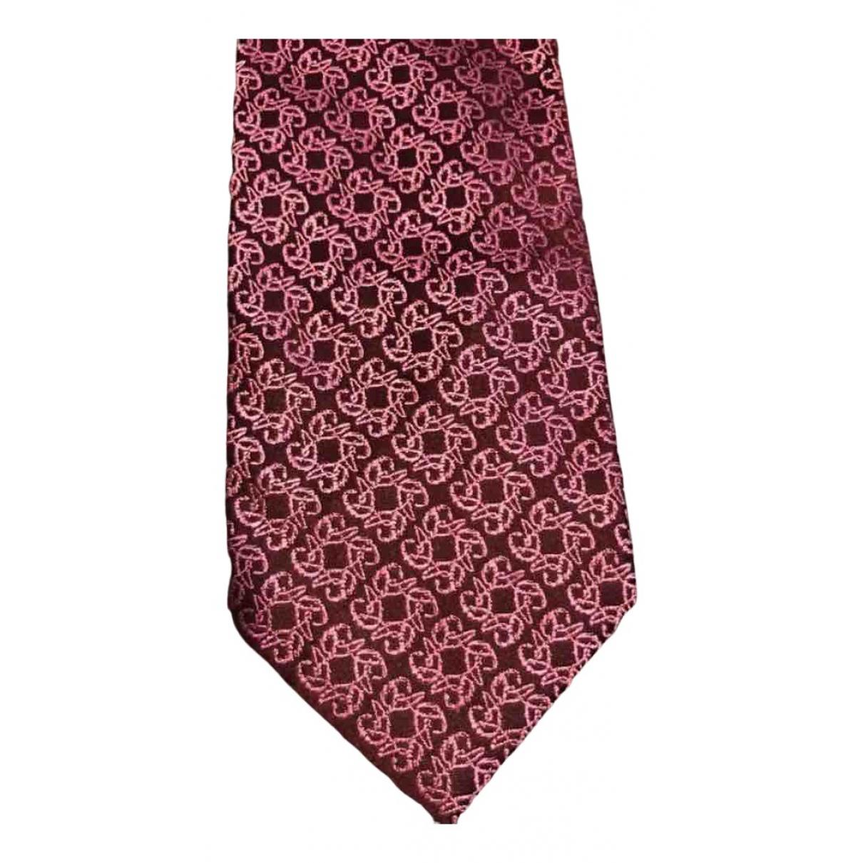 Christian Lacroix - Cravates   pour homme en soie - bordeaux