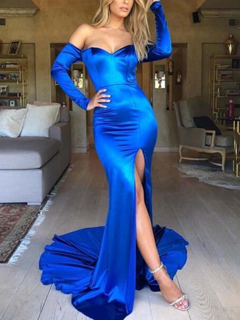 Ericdress Mermaid Off-The-Shoulder Long Sleeves Evening Dress