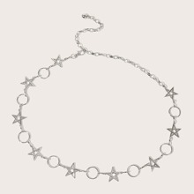 Star & Ring Decor Waist Chain