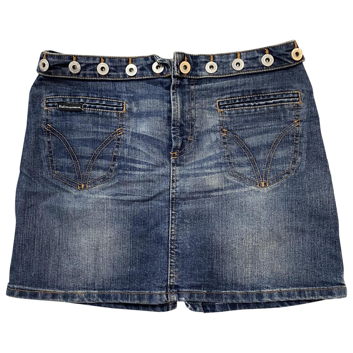 D&g \N Blue Denim - Jeans skirt for Women 40 IT