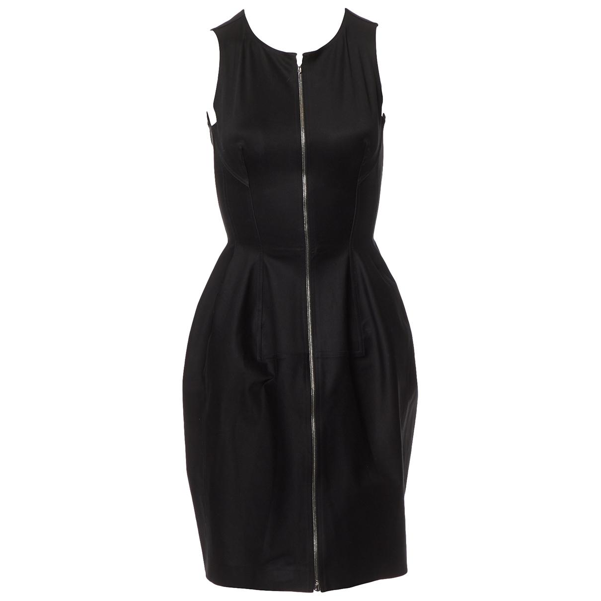 Alaia \N Kleid in  Schwarz Baumwolle
