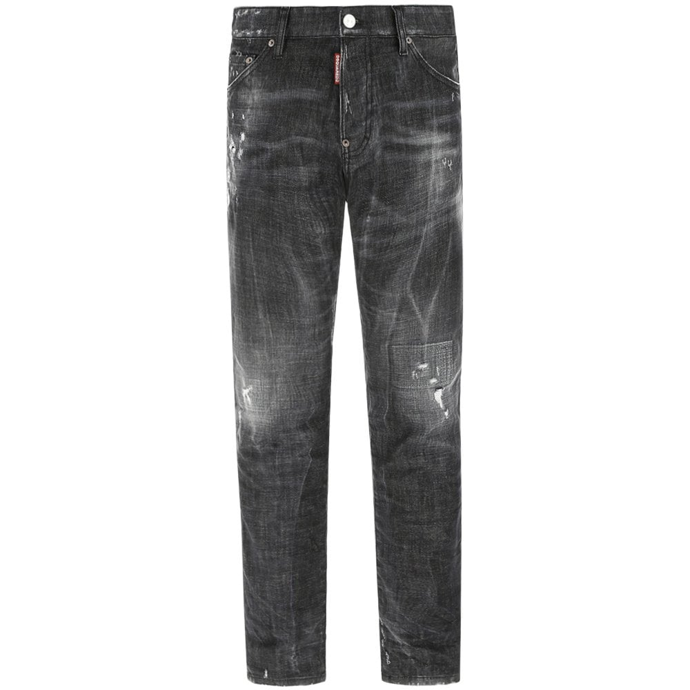 DSquared2 Distressed Cool Guy Jeans Black Colour: BLACK, Size: 30 32