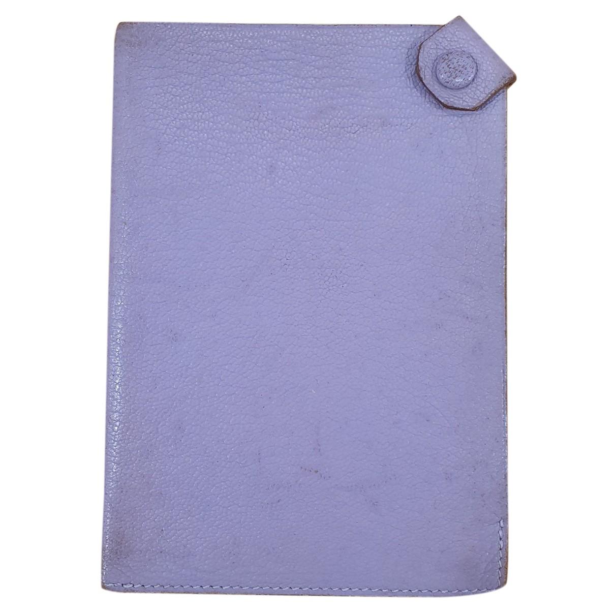 Hermes - Petite maroquinerie Tarmac pour femme en cuir - violet