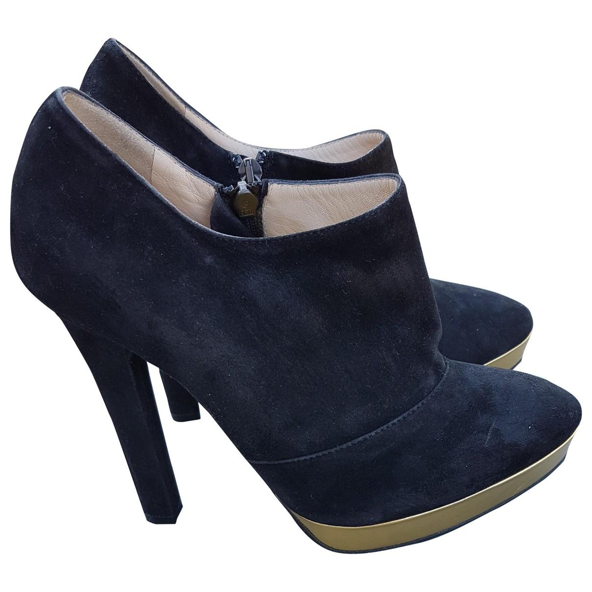 Bottega Veneta \N Black Leather Ankle boots for Women 38.5 EU
