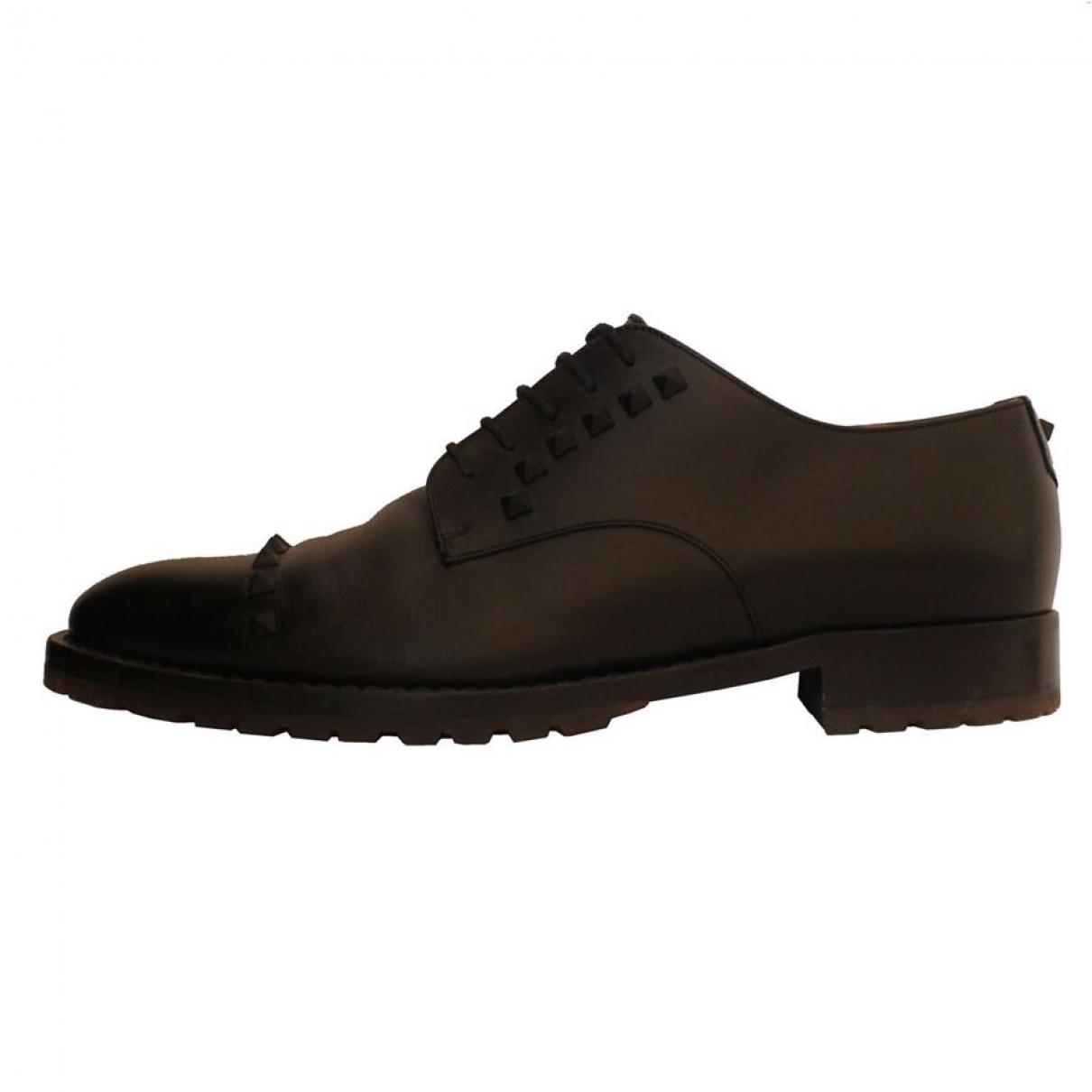 Valentino Garavani - Derbies   pour homme en cuir - noir