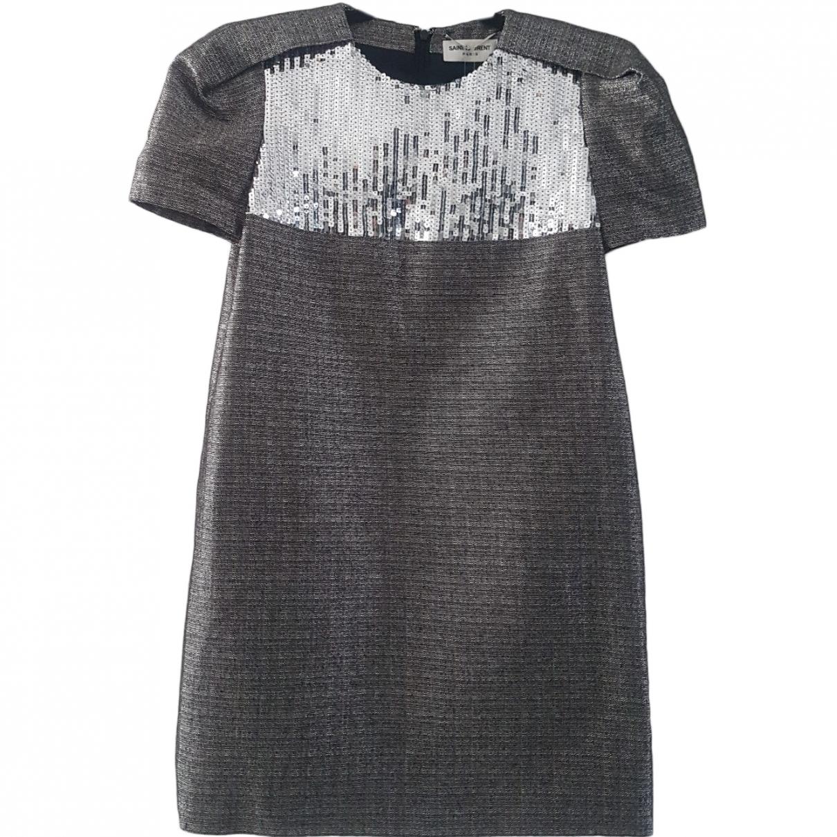 Saint Laurent \N Silver dress for Women 36 FR