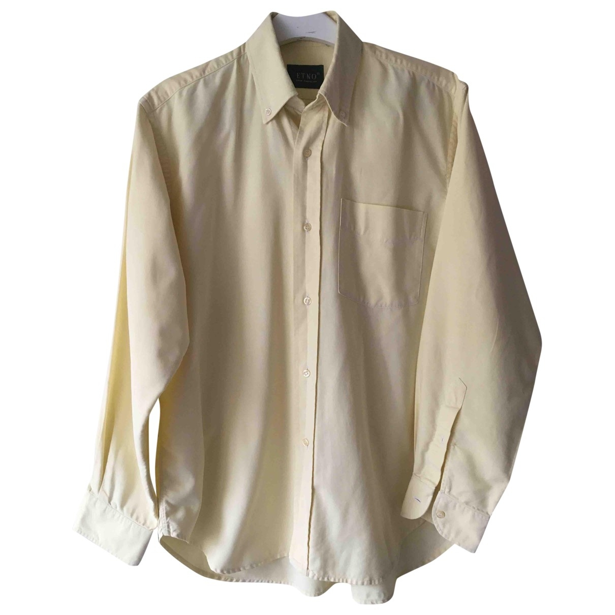 Non Signé / Unsigned \N Yellow Cotton Shirts for Men L International