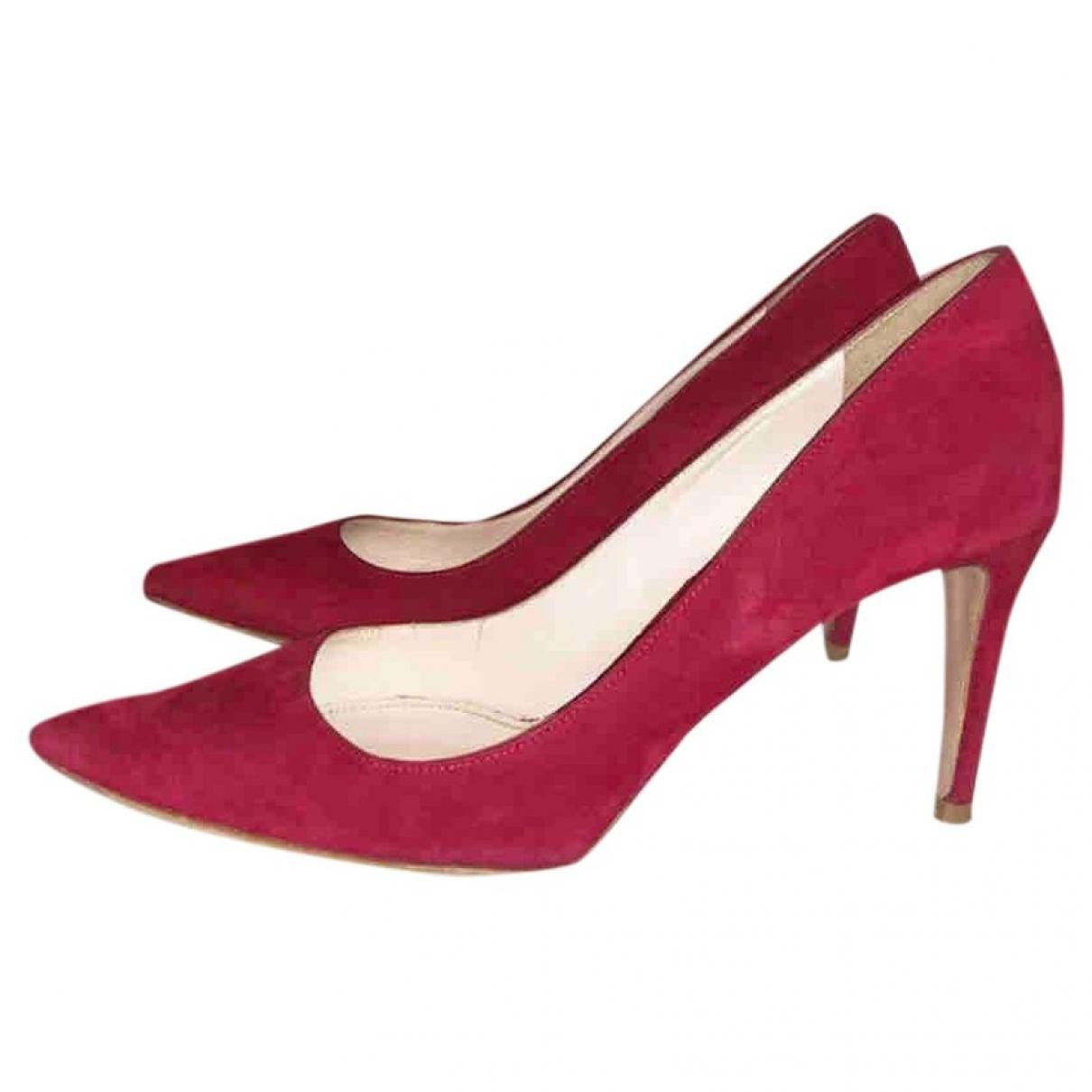 Prada - Escarpins   pour femme en suede - rouge