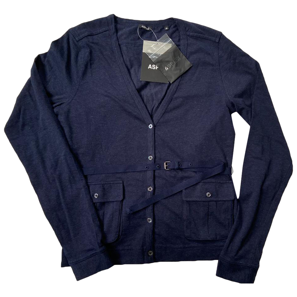 Aspesi - Pull   pour femme en coton - bleu