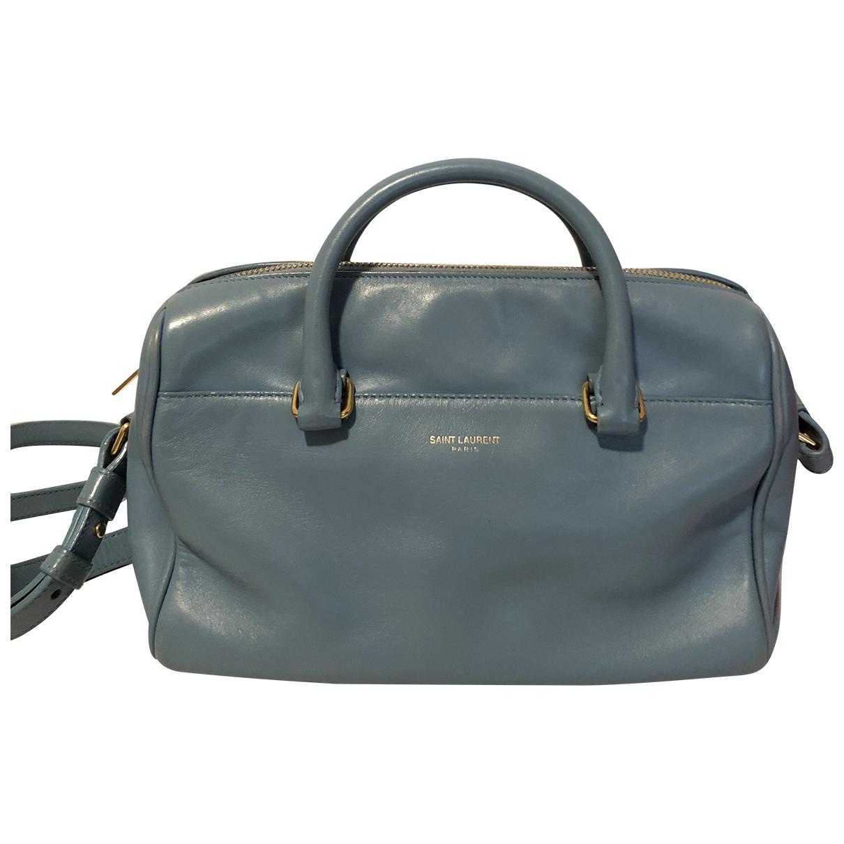 Saint Laurent Duffle Blue Leather handbag for Women N